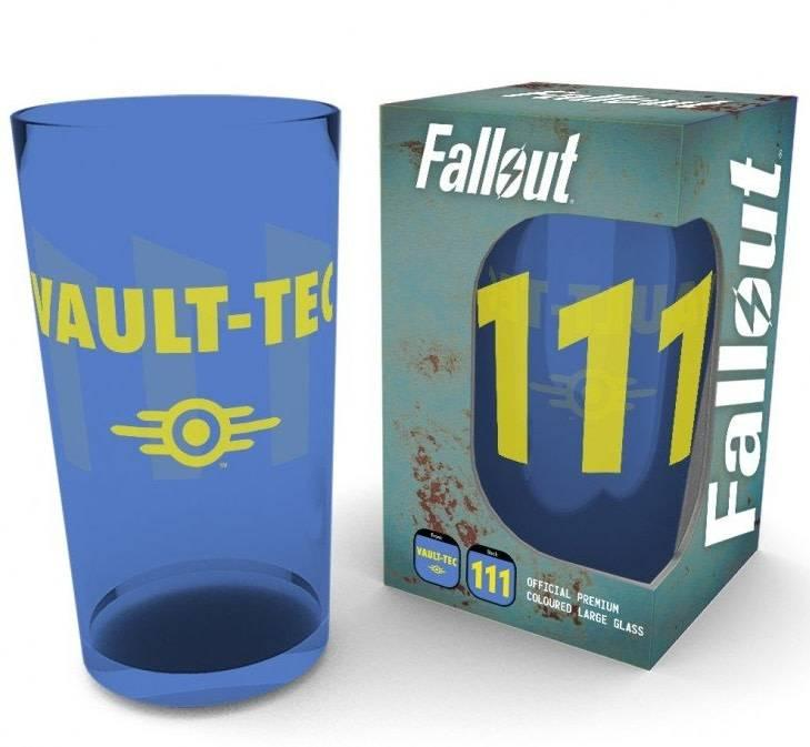 FALLOUT - Premium Coloured Large Glasses 500ml - Vault 111