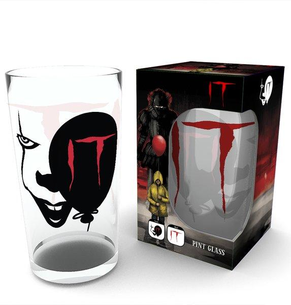 IT - Large Glasses 500ml - Pennywise Face