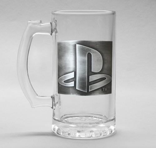 PLAYSTATION - Verre à bière 500ml Metal Badge - Logo