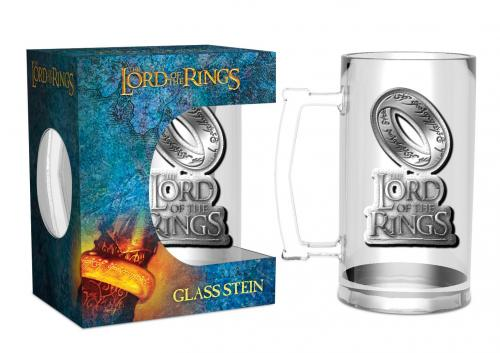 LORD OF THE RINGS - The One Ring - Chope badge métal 500ml