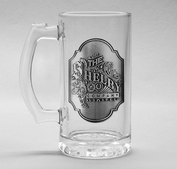 PEAKY BLINDERS - Beer Glass 500ml Metal Badge - Shelby Company