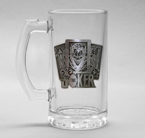 DC COMICS - Verre à bière 500ml Metal Badge - The Joker