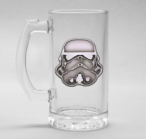 ORIGINAL STORMTROOPER - Verre à bière 500ml Metal Badge - Helmet