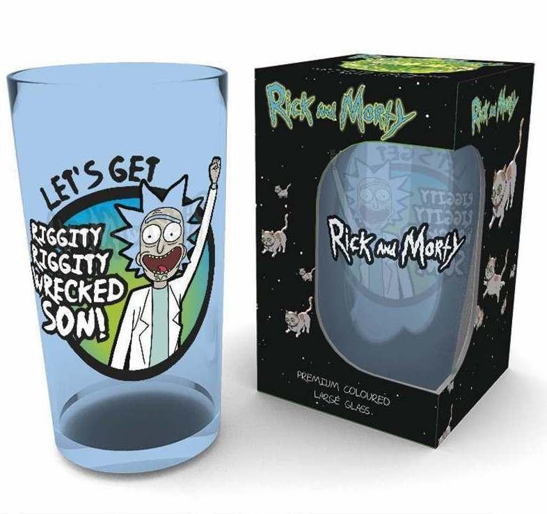 RICK & MORTY - Premium Coloured Large Glasses 500ml - Wrecked