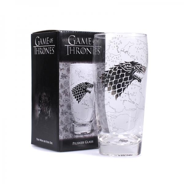 GAME OF THRONES - Pilsner Glass - King in the North