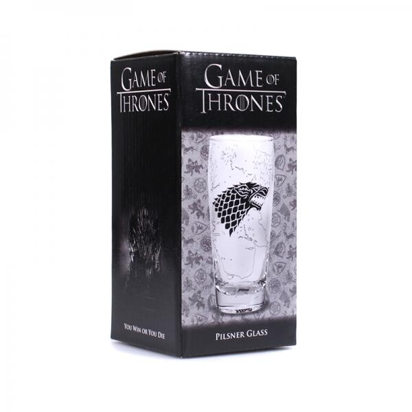 GAME OF THRONES - Pilsner Glass - King in the North_2