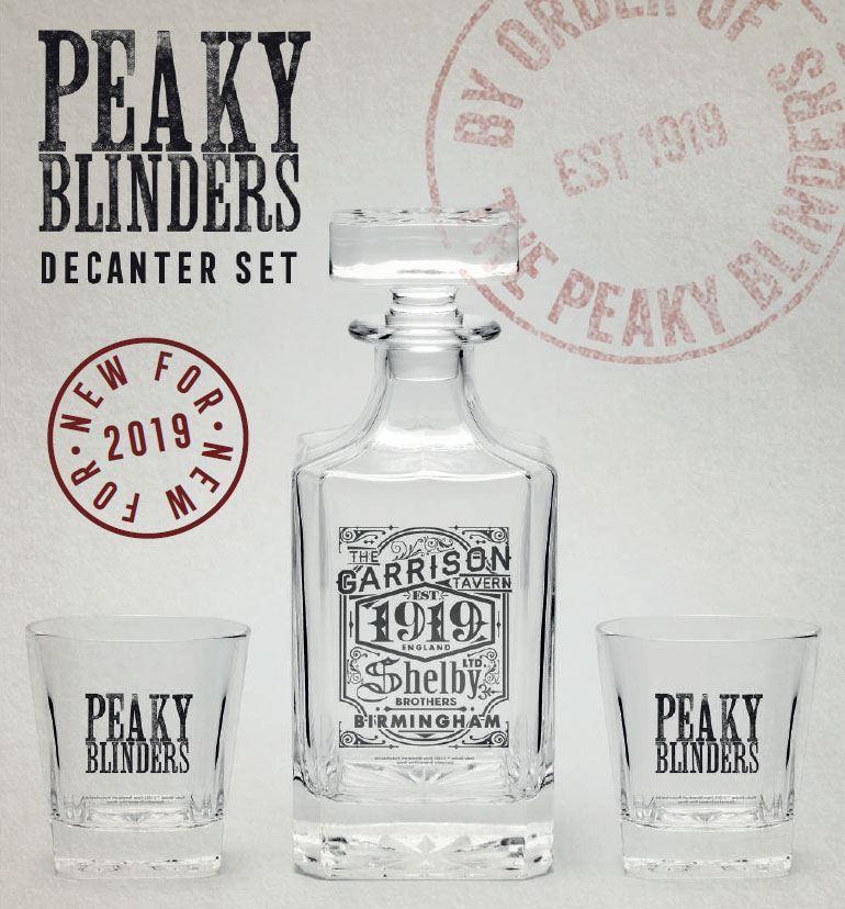 PEAKY BLINDERS - Set carafe à décanter et deux verres_1
