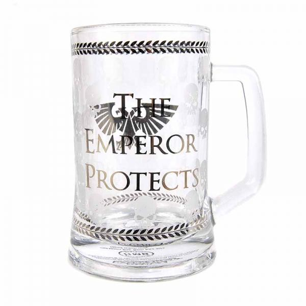 WARHAMMER - Glass Tankard 500ml - Emperor