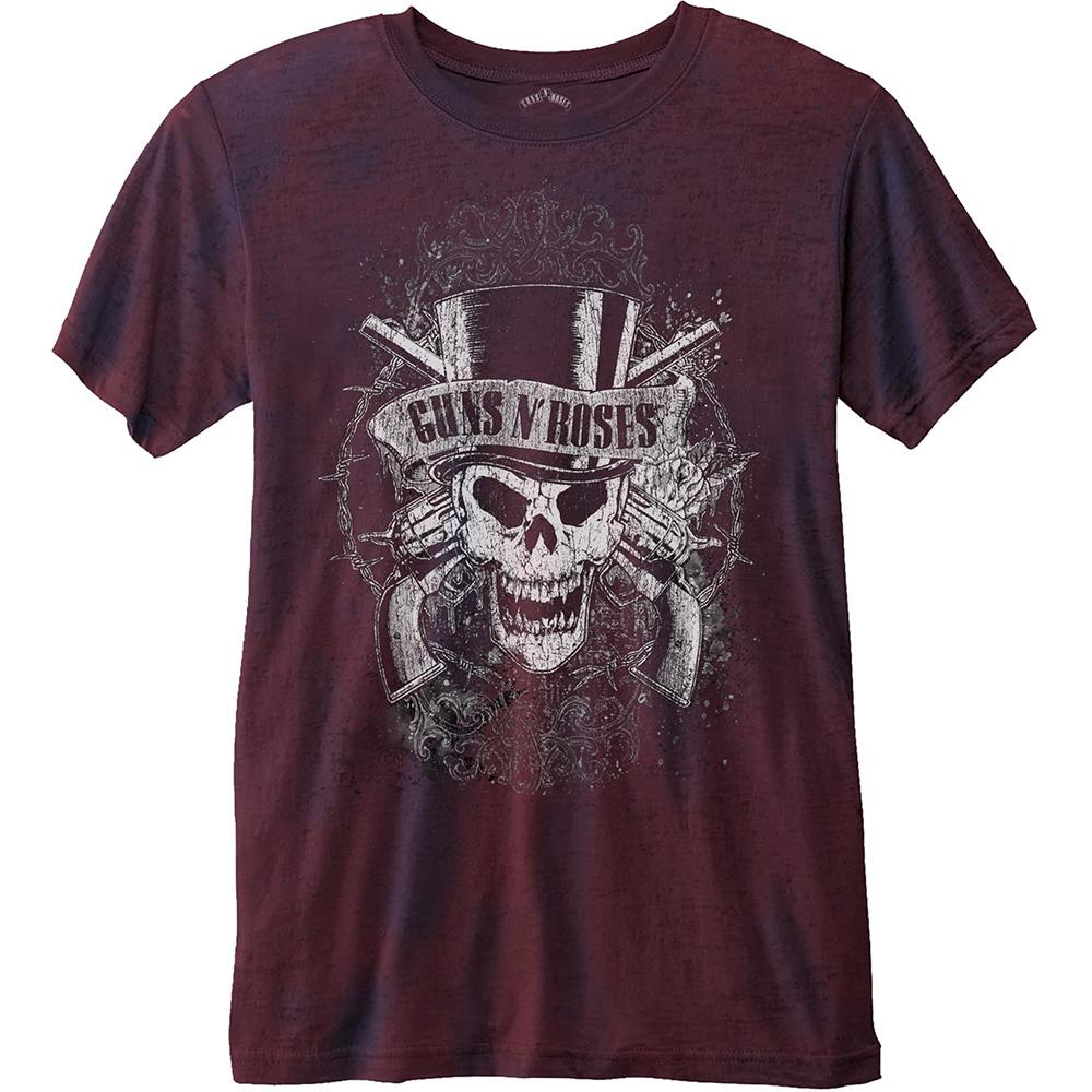 GUNS N ROSES - T-Shirt BurnOut - Faded Skull (L)