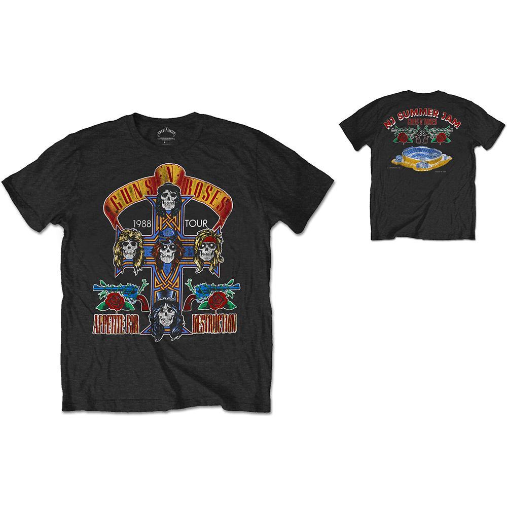 GUNS N ROSES - T-Shirt RWC - NJ Summer Jam 1988 (L)