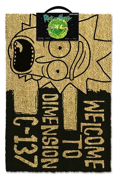 RICK & MORTY - Paillasson 40X60 - Welcome Dimension C-137 Black