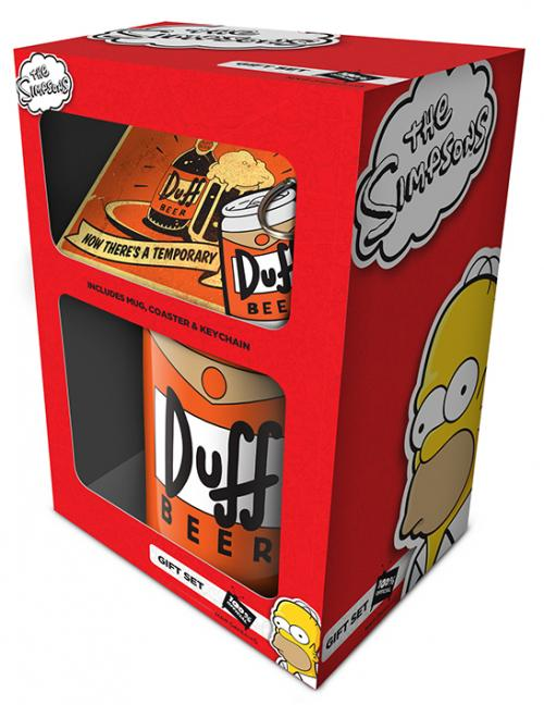 THE SIMPSONS  - Gift Set - Mug, Sous-verre & Porte-clés - Duff
