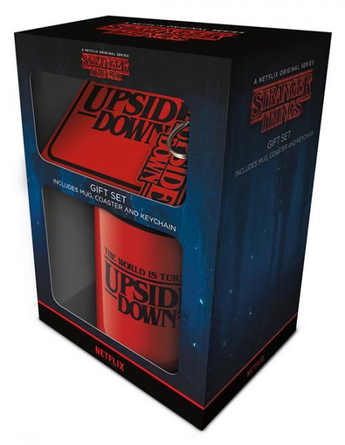 STRANGER THINGS - Upside Down - Set mug, sous-verre & porte-clés