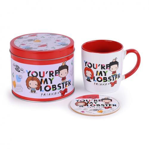 FRIENDS - You're my Lobster - Box métal, mug & sous verre