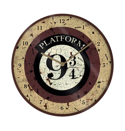 HARRY POTTER - Platform 9 3/4 - Horloge en plastique diamètre 25cm