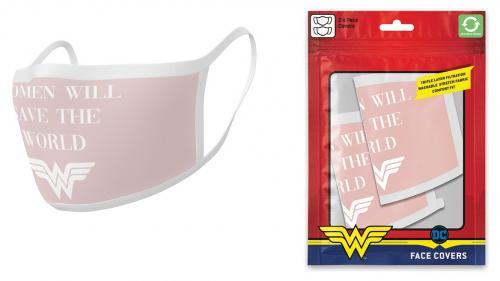 DC COMICS - Wonder Woman - Set de 2 masques visage