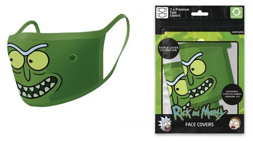 RICK & MORTY - Pickle Rick - Set de 2 masques visage