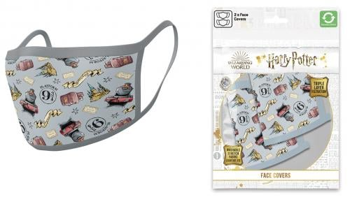 HARRY POTTER - Poudlard Express - Set de 2 masques visage
