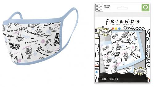 FRIENDS - Phrases - Set de 2 masques visage