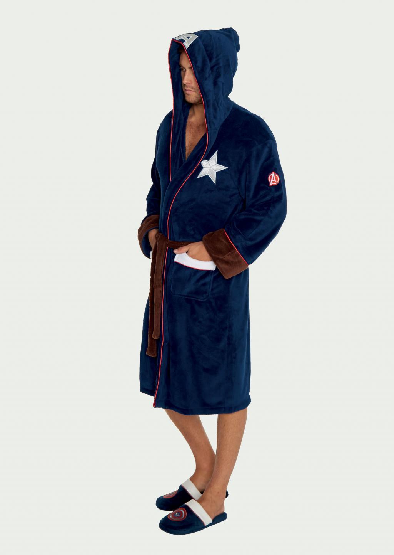 MARVEL - Peignoir Homme - Captain America - Adulte - Taille Unique