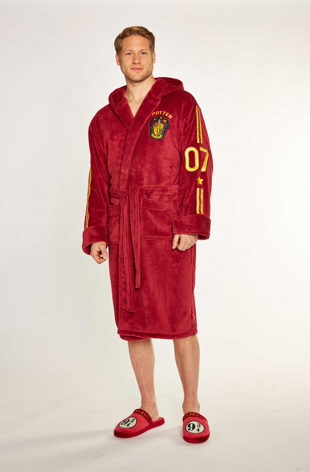 HARRY POTTER - Peignoir Homme - Quidditch - Adulte - Taille Unique