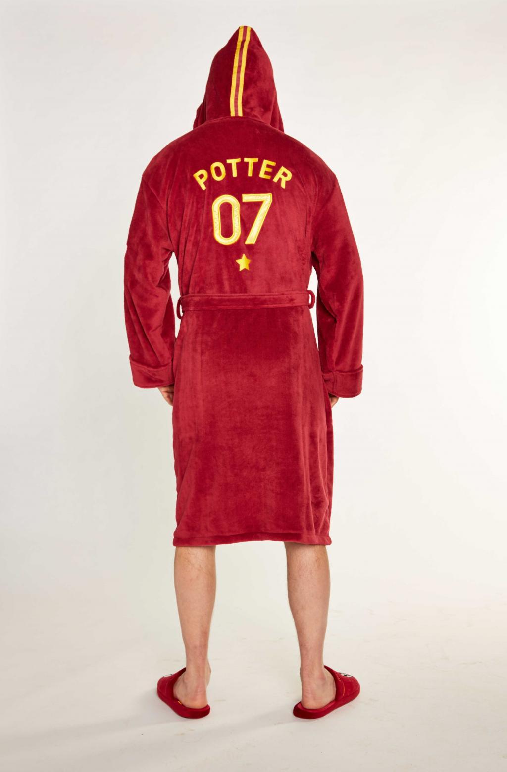 HARRY POTTER - Peignoir Homme - Quidditch - Adulte - Taille Unique_4