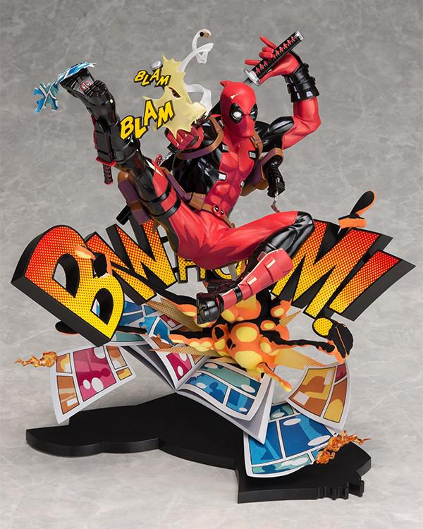 DEADPOOL - Deadpool Breaking The 4Th Wall Statue - 24cm
