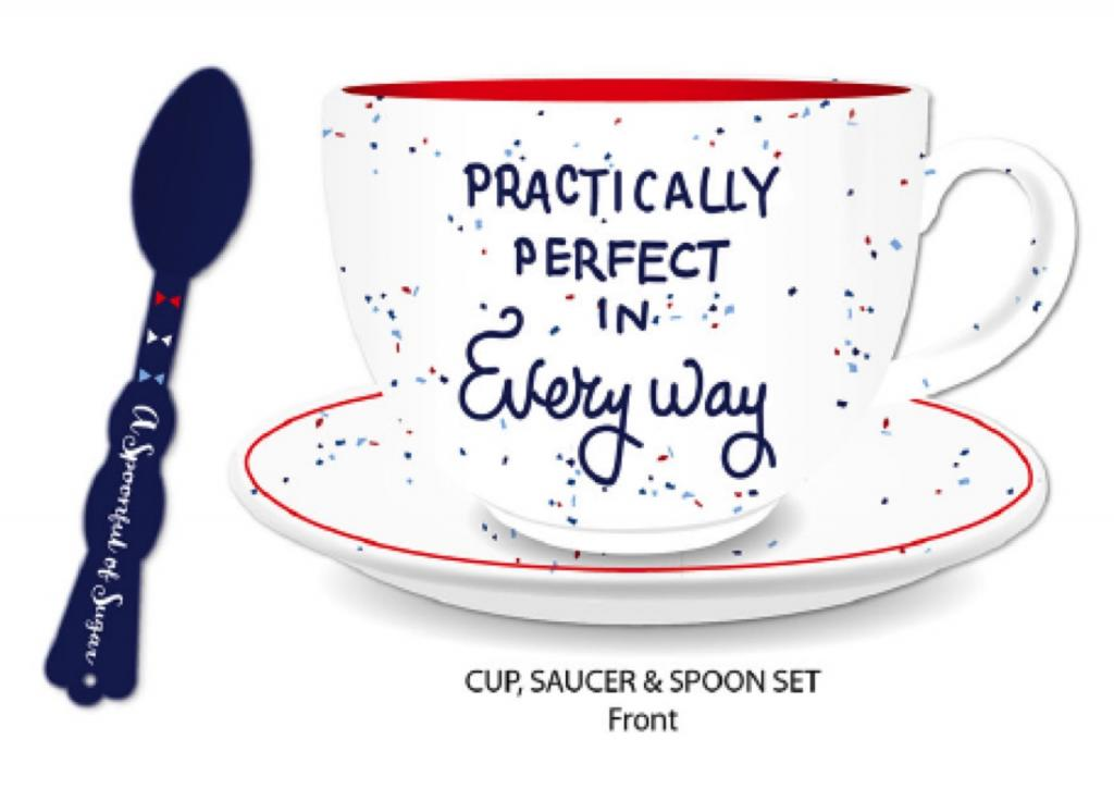 MARY POPPINS - Cup, Saucer & Spoon Set - Perfect