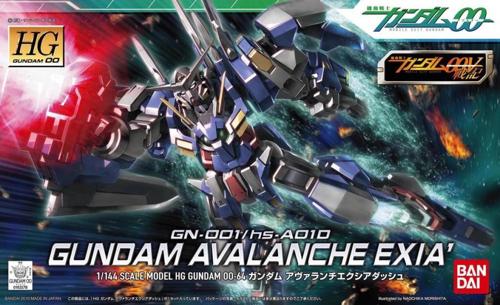 GUNDAM - Model Kit - HG 1/144 - Gundam Avalache Exia Dash - 15cm
