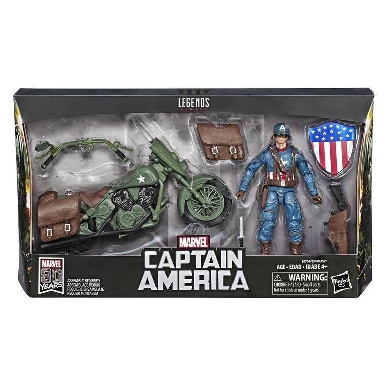 MARVEL - Marvel Legends Series 2019 - Captain America with Bike