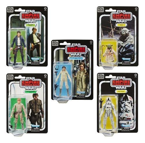 STAR WARS Empire Strikes Back 40 Th Ann.- Black Series Fig. - Ass 5 Pc