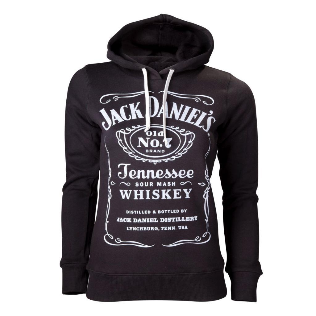 JACK DANIEL'S - Logo Black Hoodie GIRL (L)