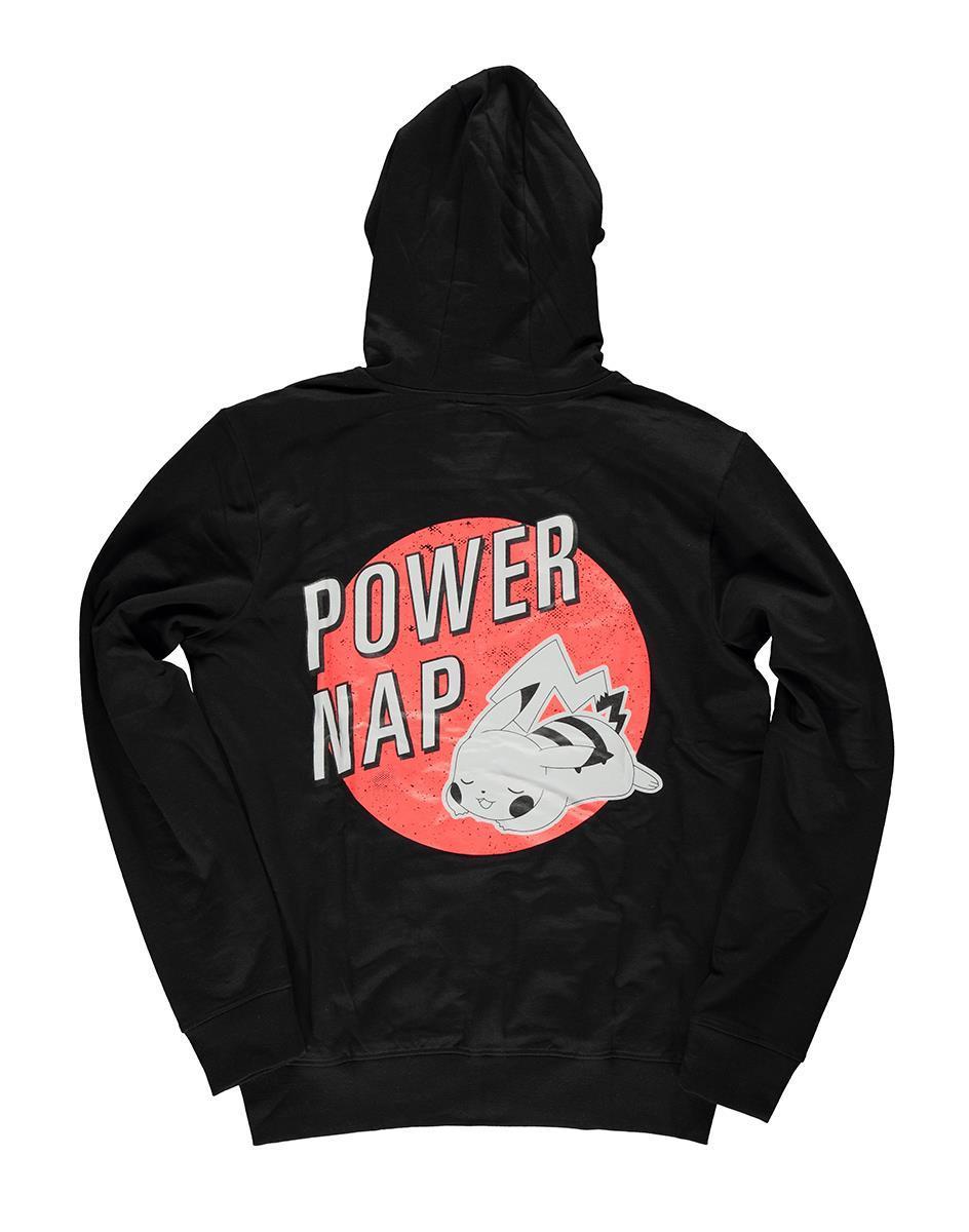 POKEMON - Pikachu Power Nap - Hoodie homme - (S)_1