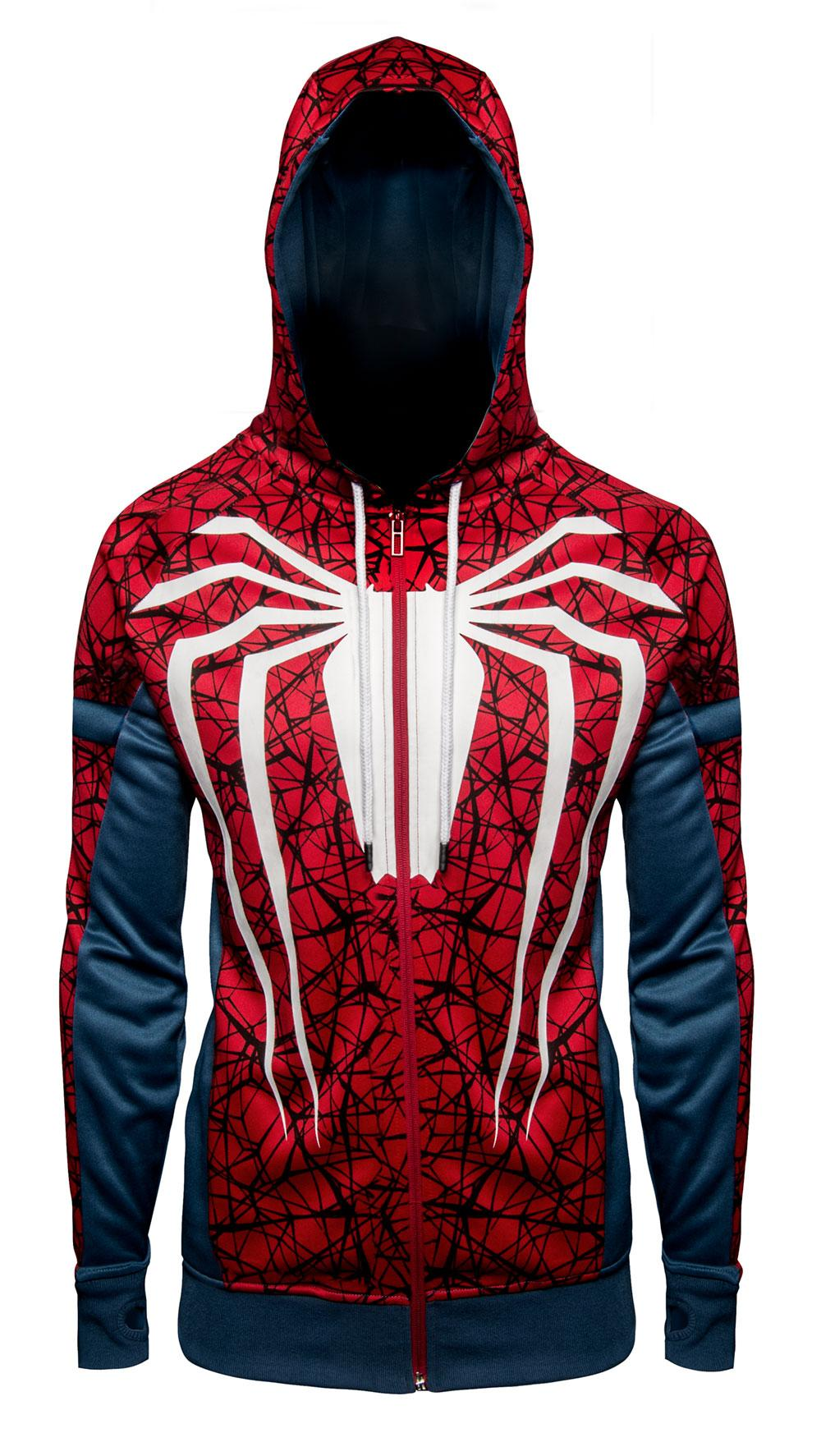 SPIDERMAN - White Spiderman Premium Hoodie (L)
