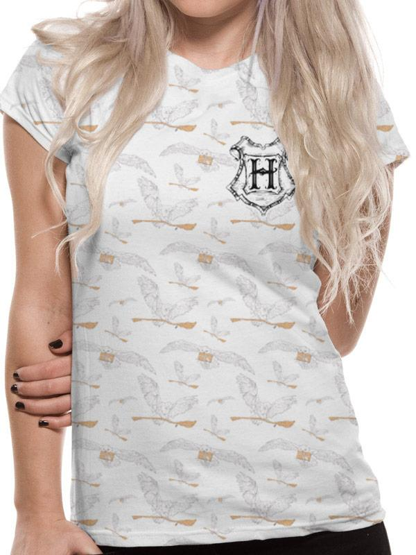 HARRY POTTER - T-Shirt Hedwig Pattern Sublimated GIRL (S)