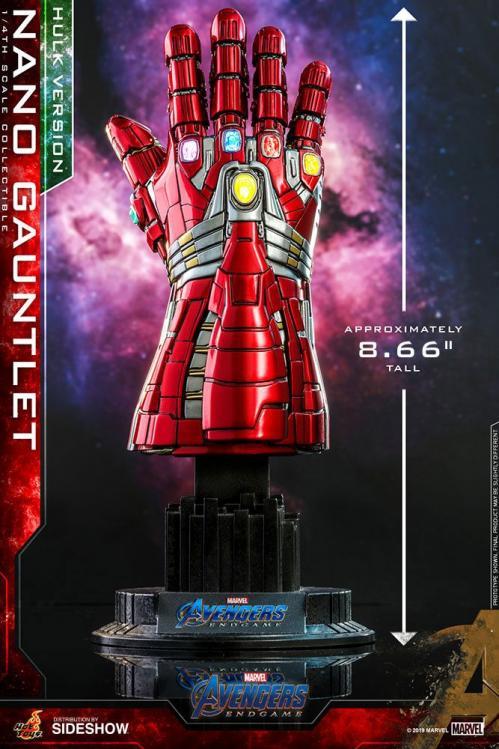 MARVEL - Avengers Endgame - Réplique 1/4 Nano Gauntlet Hulk V. - 22cm