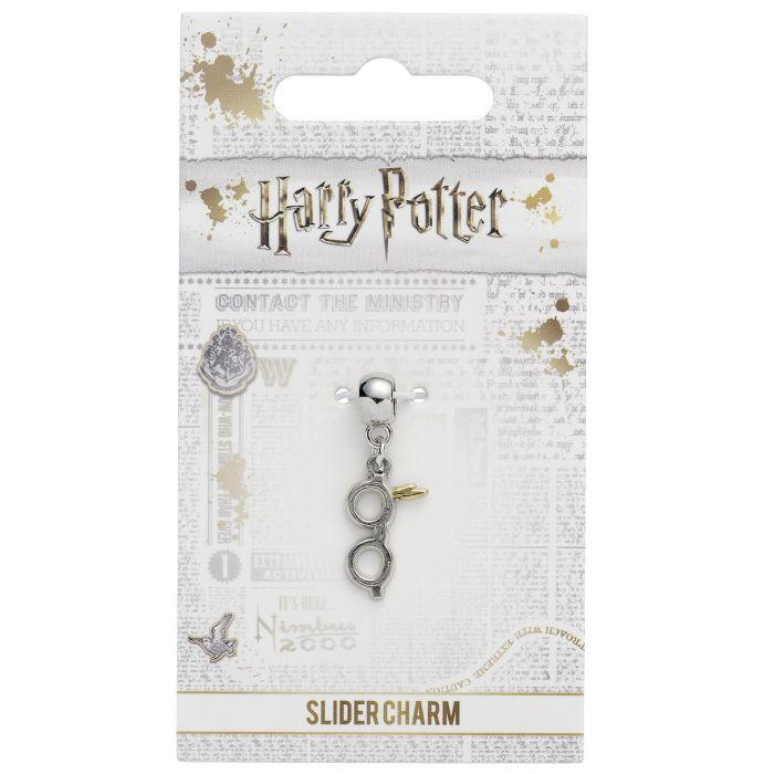 HARRY POTTER - Lightning Bolt & Glasses - Charme plaqué argent_2