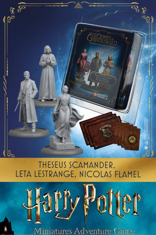 HARRY POTTER - Miniature Adventure Game - Theseus, Leta, Flamel - UK