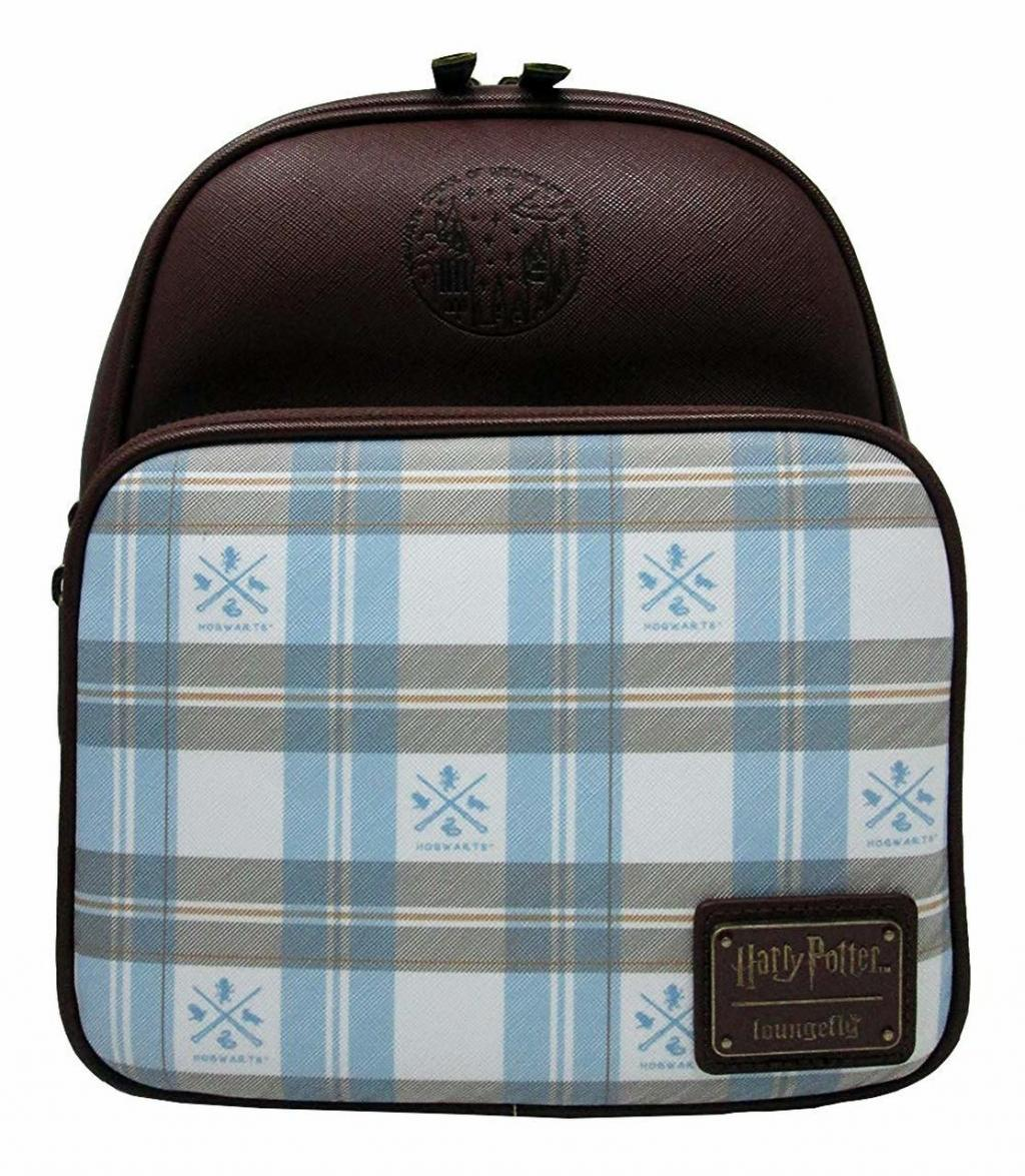 HARRY POTTER - Blue Check Mini Backpack 'LoungeFly'