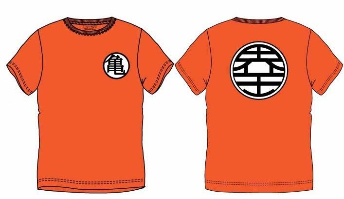 DRAGON BALL Z - T-Shirt KIDS Symbol - ORANGE (10 ans)_1
