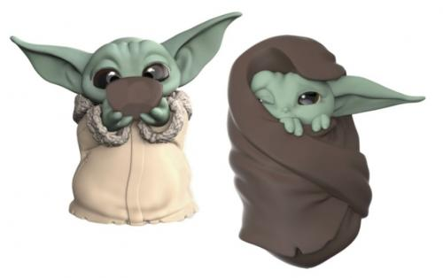 MANDALORIAN - Pack 2 figurines - Baby Yoda Soup + Blanket - 5.5cm