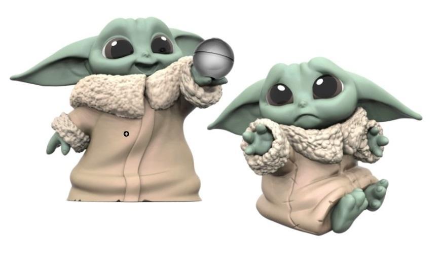 MANDALORIAN - Pack 2 figurines - Baby Yoda Ball + Sad - 5.5cm_1