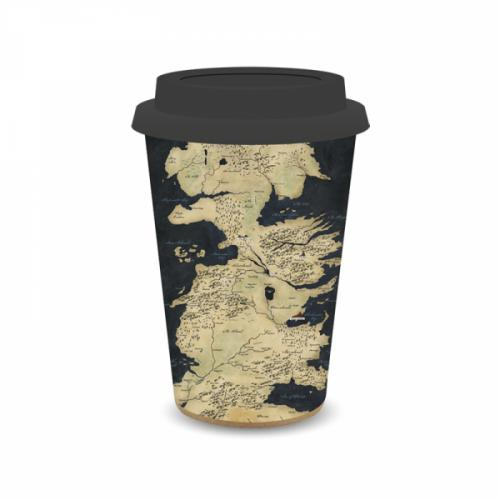 GAME OF THRONES - Travel Mug 400 ml Hiskup - Westeros Map