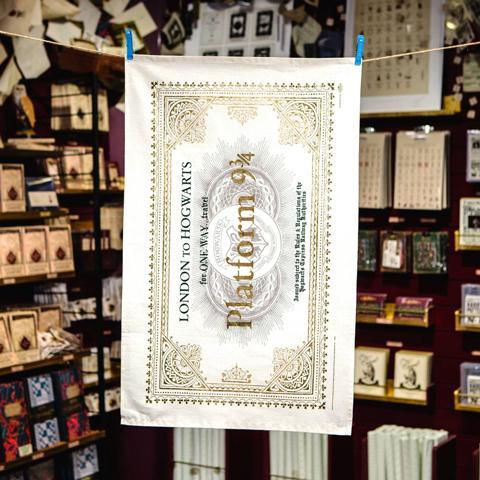 HARRY POTTER - Ticket Hogwarts Express - Torchon essuie 50x70cm_2
