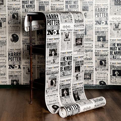HARRY POTTER - The Daily Prophet - Papier Peint 50cm x 10m
