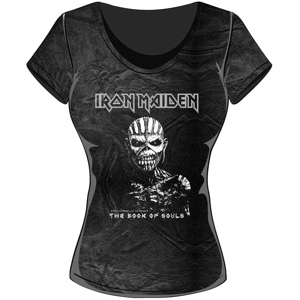 IRON MAIDEN - T-Shirt Ladies Acid Wash - Book Of Souls (L)