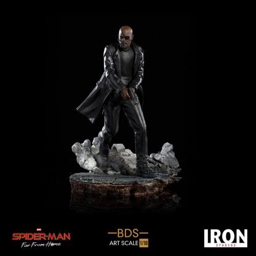 SPIDER-MAN : FAR FROM HOME - BDS Art Scale Deluxe - Nick Fury 20cm