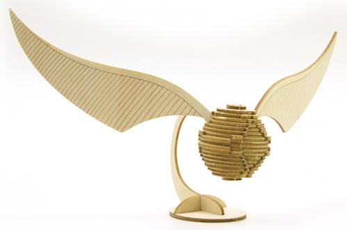 HARRY POTTER - Maquette 3D en Bois - Golden Snitch