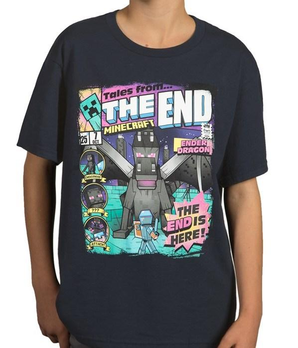 MINECRAFT - T-Shirt KIDS - Tales From the End (S)_1