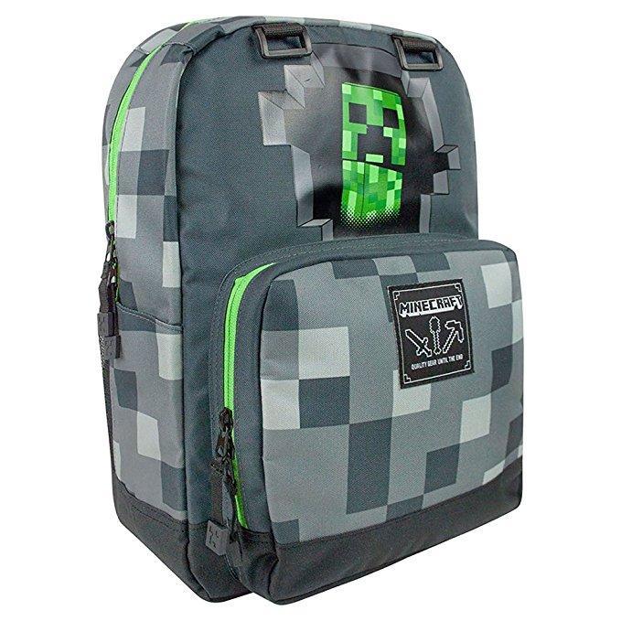 MINECRAFT - Creepy Creeper Dark Grey Backpack - 45cm